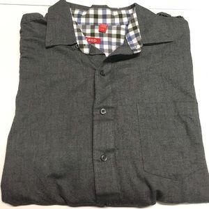 Gray IZOD button down shirt large